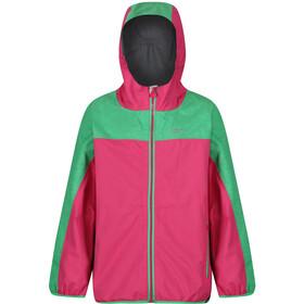 Regatta Deviate Giacca Bambino, hot pink/island green reflective